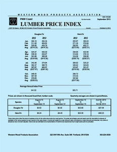 Coast Lumber Price Index (Monthly Report)