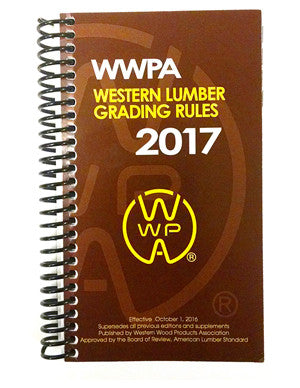 Western Lumber Grading Rules 2017 (Coil Bound)