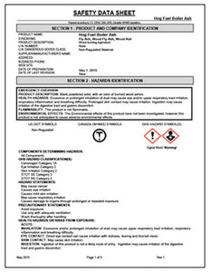 Safety Data Sheet - Hog Fuel Boiler Ash