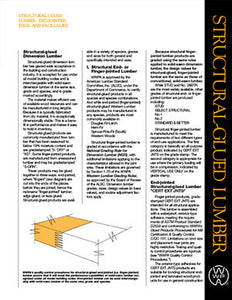 Structural-Glued Lumber - Pamphlet