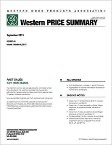 Western Price Summary (Monthly Report)