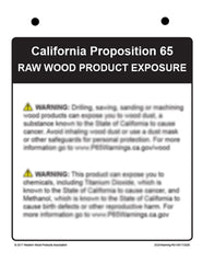 Prop65 Wood Dust Warning Sign