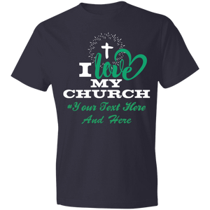 I love my churchT-Shirt 4.5 oz