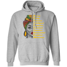 Load image into Gallery viewer, Melanated AttrPullover Hoodie 8 oz.