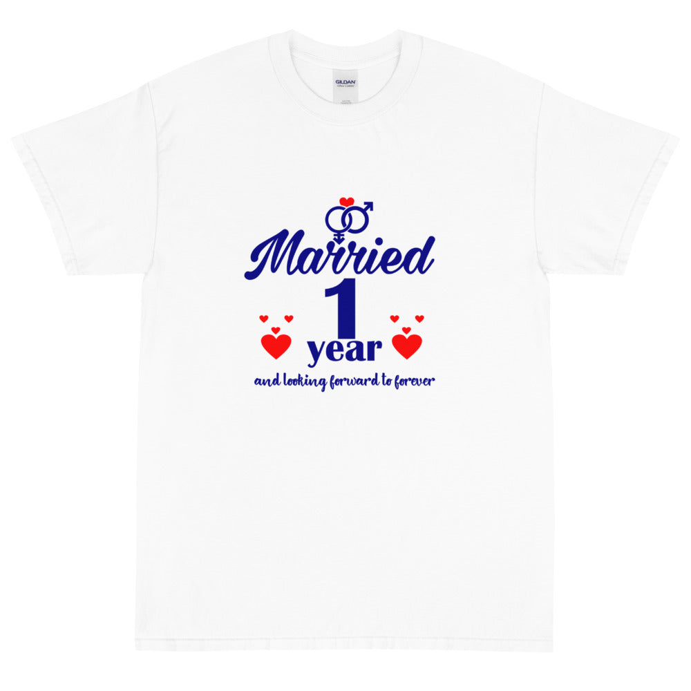 MARRIED 1YEAR Short Sleeve T-Shirt