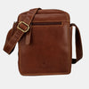 Finelaer Dark Brown Leather Crossbody Bag