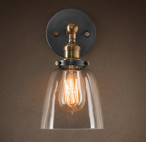Barbara 1-light Clear Glass Edison Wall Lamp with