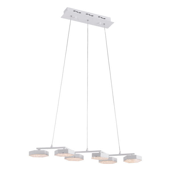 White Acrylic Painted Metal Ceiling Lamp