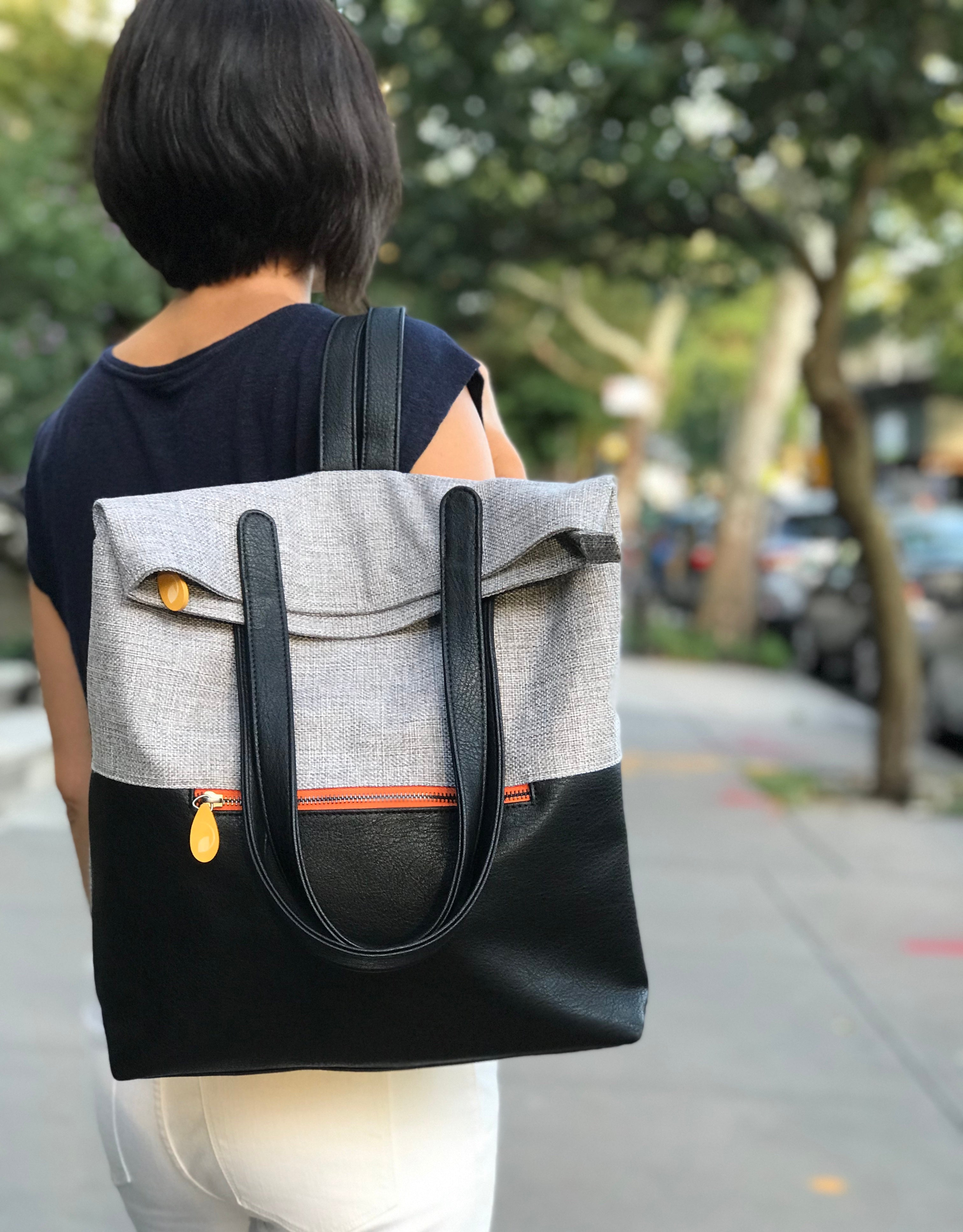Greenpoint Vegan Backpack - Stone Gray/Espresso