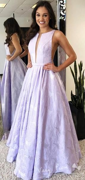 A-Line Round Neck Sleeveless Open Back Long Prom Dresses With Sash 0102