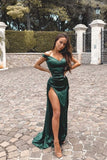Green Mermaid Prom Dress For Teens, Off The Shoulder Prom Dresses, Graduation School Party Gown 019