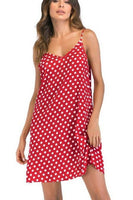 Summer Casual Dress short dress with white polk dots and tie shoulders