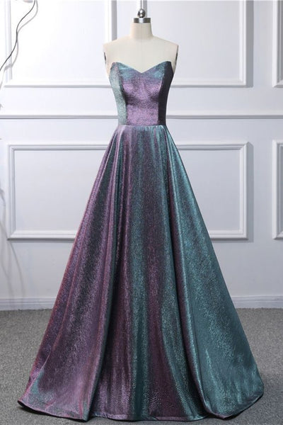 Sweetheart Neck Long Prom Dress Graduation Dress 0217
