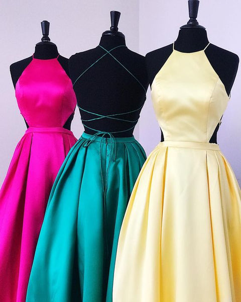 Long Prom Dress, Elegant Prom Dress, Fuchsia Prom Dress, Green Prom Dress, Yellow Prom Dress 0222