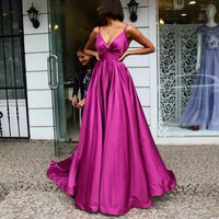 Beautiful V Neck Sexy Prom Dresses Long Prom Dresses Formal Dresses Evening Gowns 0234