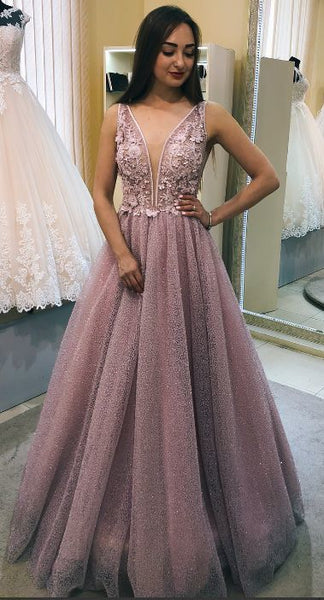 Gorgeous Dusty Pink Long Prom Dress, Prom Dress Party Dress Dancing Dress 0245