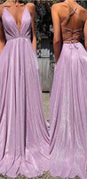 Shinning Simple Sparkly A-line Spaghetti Straps Fashion Long Prom Dresses Prom Dress Evening Gowns 052