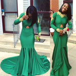 Green Prom Dress Mermaid Prom Dresses Evening Gowns KS937