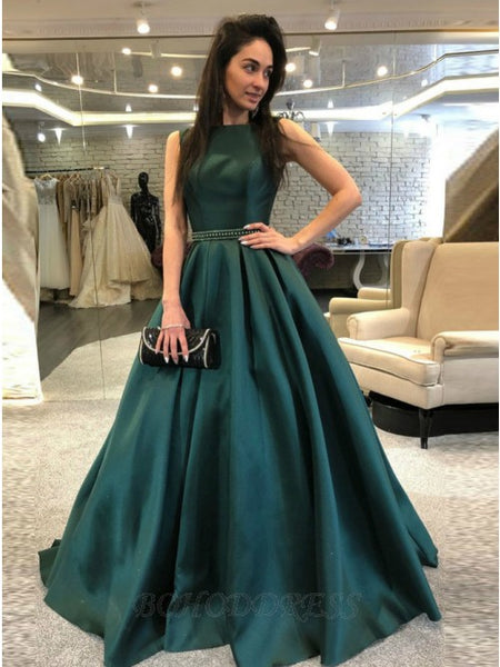 Emerald Green Prom Dress Prom Dresses Evening Gowns KS927
