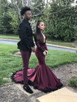 Prom Couples Long Black Girl Prom Dress Evening Dress KS954
