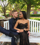 Prom Couples Long Black Prom Dress Evening Dress KS953