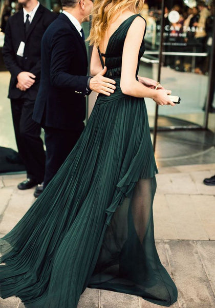 Emerald Green Prom Dress Prom Dresses Evening Gowns KS930