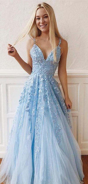Lace Prom Dress Long, Dresses For Graduation Party, Evening Dress, 082