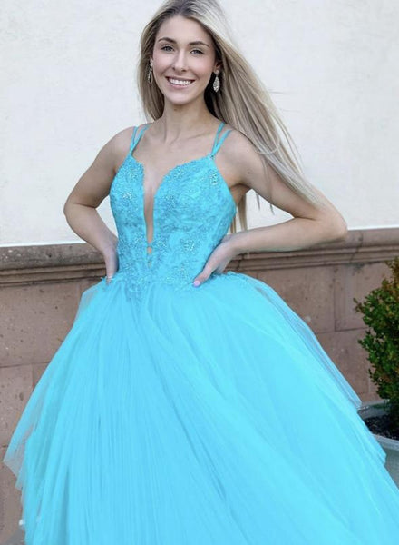 Blue lace short prom dress homecoming dress KS1463