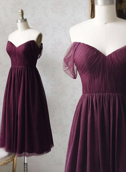 Purple tulle short prom dress homecoming dress KS1458