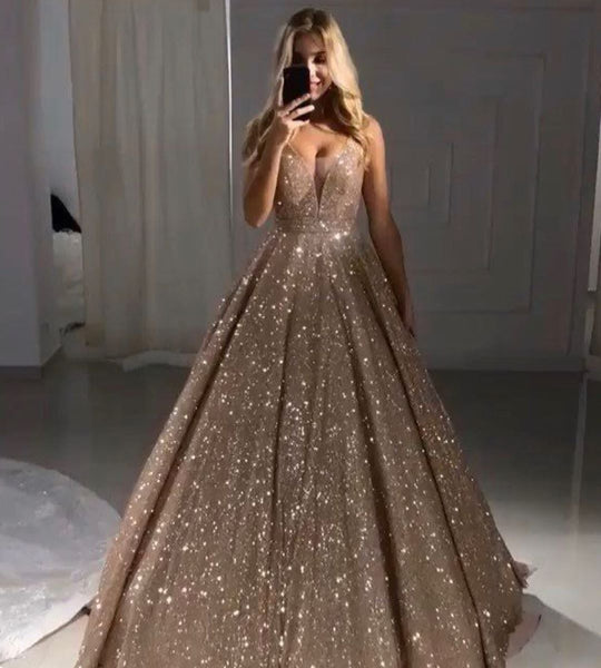 Sparkly Prom dresses,Long Prom Dress, Prom dress CC138