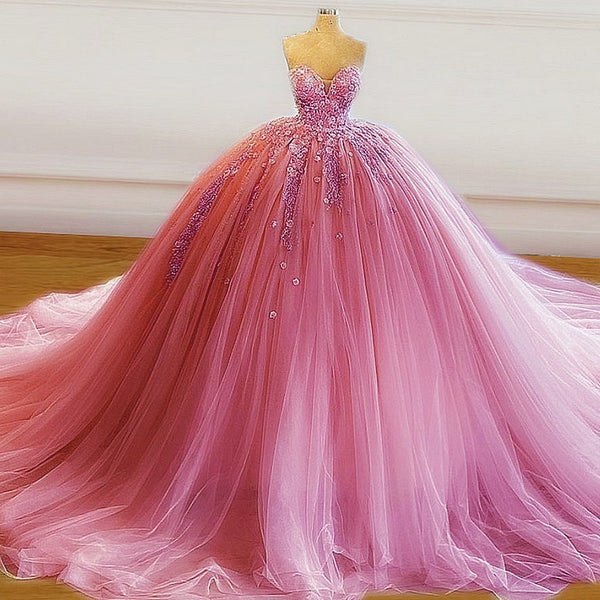 Sexy Pink Prom Dress,Ball Gown Sweet 16 Dresses,Party Gowns KS856