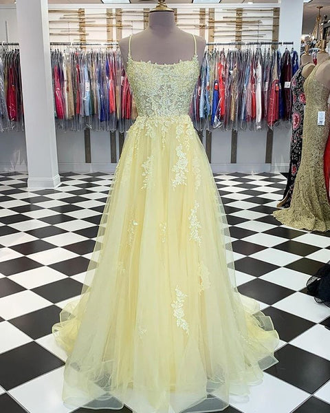 yellow prom dress,yellow ball gown,ball gown prom dresses,yellow evening gown P01454