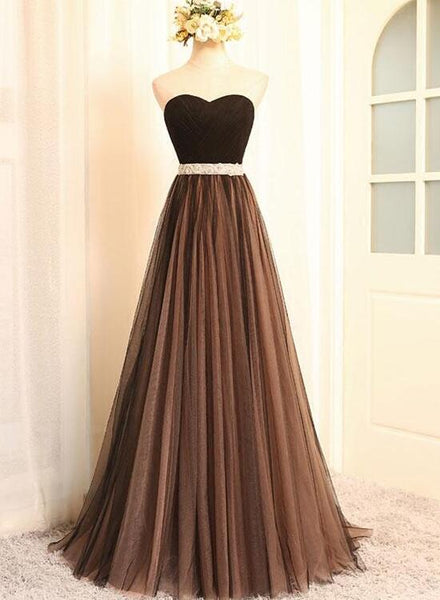 Beautiful Champagne Tulle Long Bridesmaid Dress,Wedding Party Dress KS6562