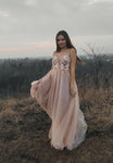 Stylish v neck tulle prom dress evening dress KS1504