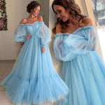 Vintage Ball Gown Quinceanera Dresses Sweet 16 Prom Dress Blue Party Gowns Pretty Prom Dresses 3554