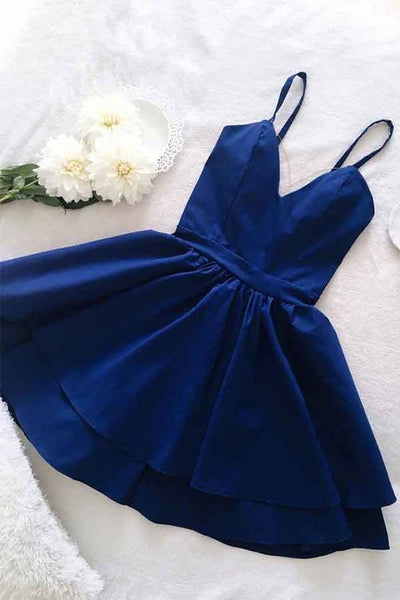 Royal Blue Hoco Dresses, Short Homecoming Dress, Back to School Dress P01663