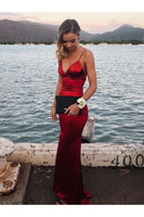 Mermaid V-Neck Long Prom Dresses Formal Evening Gowns 6011329