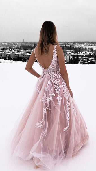 1397,princess pink ball gown prom dresses, chic backless long prom dresses for teens, prettiest junior prom dresses with lace