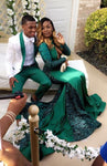 Fashion Emerald Green Prom Dress Prom Dresses Evening Gowns KS976