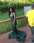 Fashion Emerald Green Prom Dress Prom Dresses Evening Gowns KS959