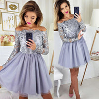 Cute tulle lace short prom dress, homecoming dress B315
