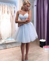 Cute tulle lace short homecoming dresses, homecoming dress B317