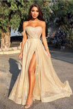 Champagne tulle long prom dress, champagne tulle formal dress B409
