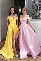 Simple sweetheart satin long prom dress evening dress B517