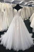 2020 Beading Long Prom Dress, tulle lace long prom dress lace formal dress B528