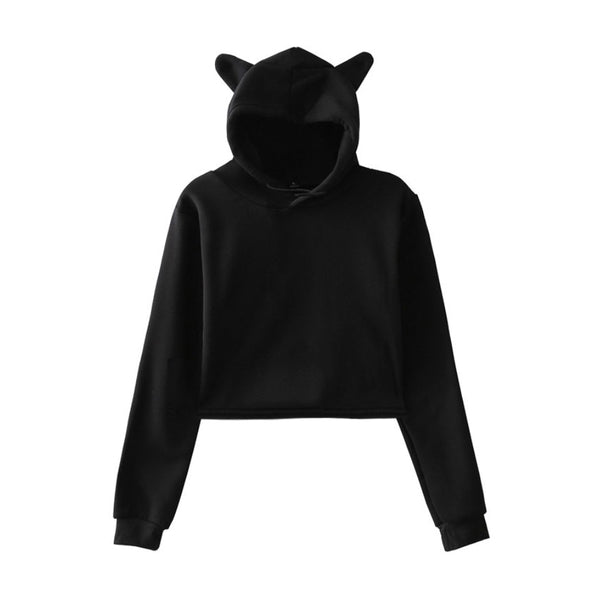 2019 Hot Sale print Cat Hoodies for Women summer pop Hoodies Sweatshirt Sexy K-pop cat hooded Harajuku plus size