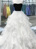 Gorgeous A Line Sweetheart White Long Prom/Evening Dress P01120