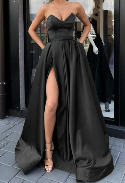 black prom dresses,long prom dress,black formal dress,black evening gowns P01460