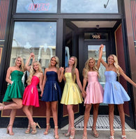 fomal short homecoming dresses, cheap homecoming dresses, simple hoco dresses with pockests P01689