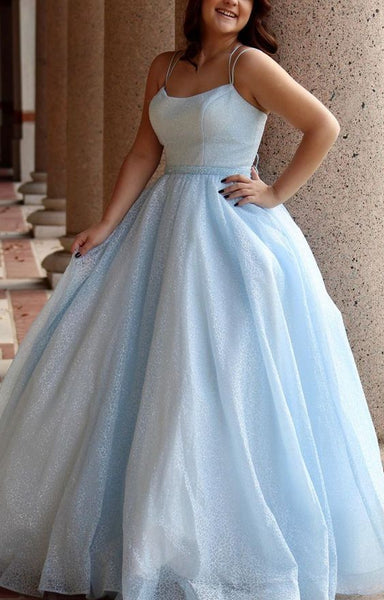 pretty light blue prom dresses, ball gown prom dresses, chic a line evening dresses P01700